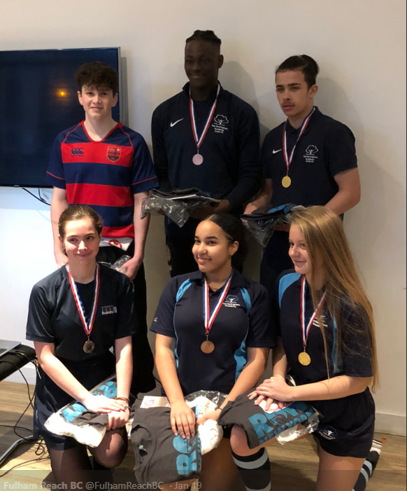 The Hurlingham Academy student rowers compete against Row New York