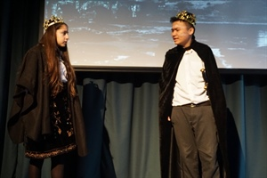 The Hurlingham Academy students perform Macbeth