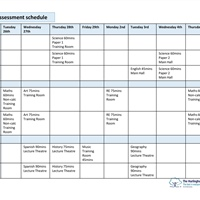 Year 7 Assessment Schedule