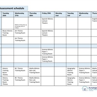 Year 8 Assessment Schedule