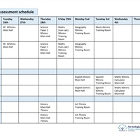 Year 9 Assessment Schedule
